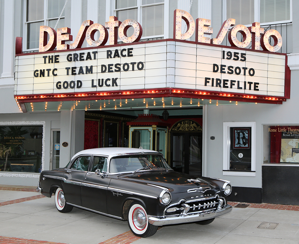The 1955 DeSoto Fireflite that is going to be used by GNTC's Team DeSoto in The Great Race.