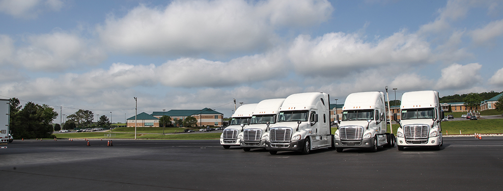 The World Class Lab program helped make the purchase of these five 2014 Freightliner Tractors possible for Georgia Northwestern Technical College. GNTC's Commercial Truck Driving Program is offered on the college's Walker County Campus in Rock Spring, Georgia.