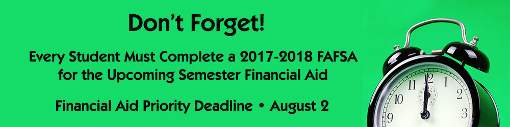 Don't Forget Your FAFSA