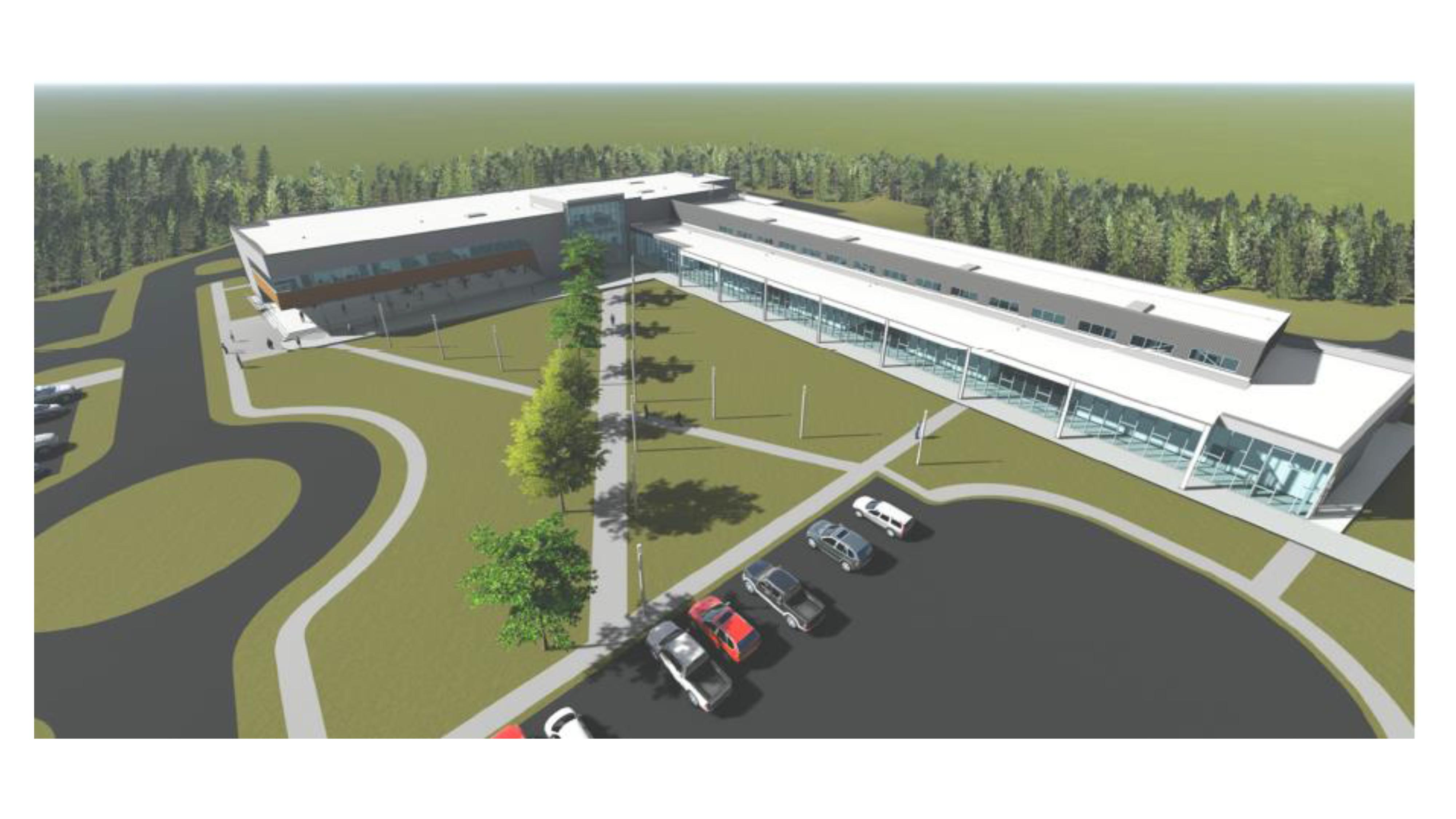 One of several drawings of what developers have in store for the brand new campus building for Georgia Northwestern Technical College. The new addition to GNTC's Whitfield Murray Campus in Dalton, Georgia is tentatively scheduled to be completed by late 2018.