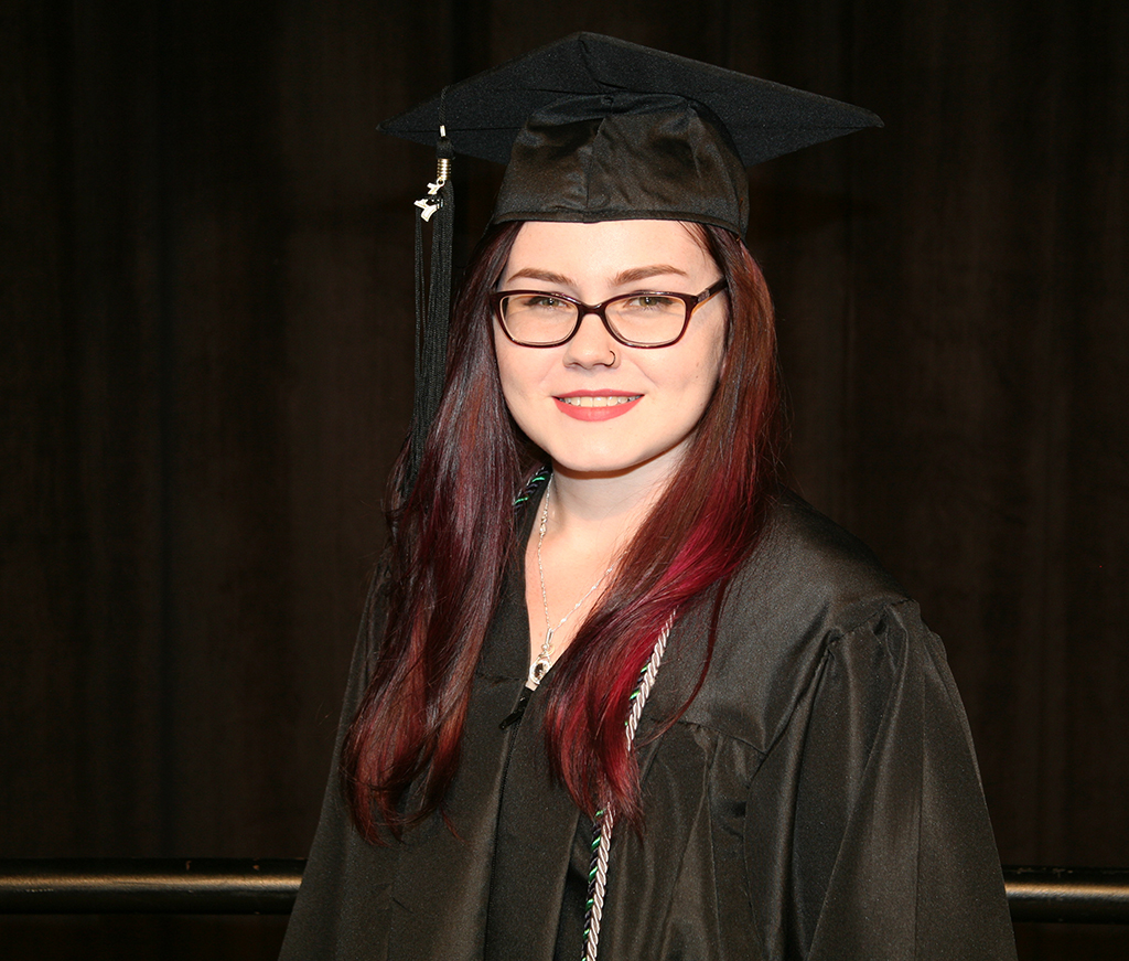 Miette Craig received her associate degree in Business Management  before she got her high school diploma. She is currently attending the University of Tennessee at Chattanooga and had to leave class early to attend the 2017 Spring Commencement Ceremony in Rome.