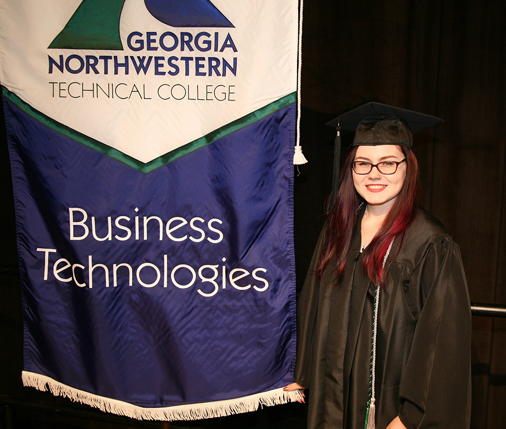 Miette Craig, of Rossville, earned her associate degree in Business Management from GNTC in spring 2017 through dual enrollment before she received her high school diploma.
