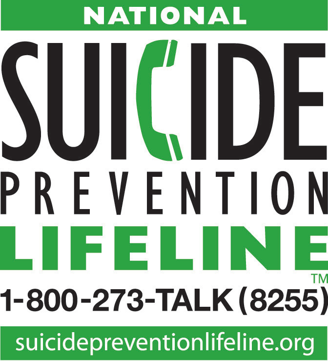National Suicide Prevention Lilfeline 1-800-273-8255