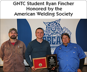 GNTC Student Ryan Fincher honored by the American Welding Society