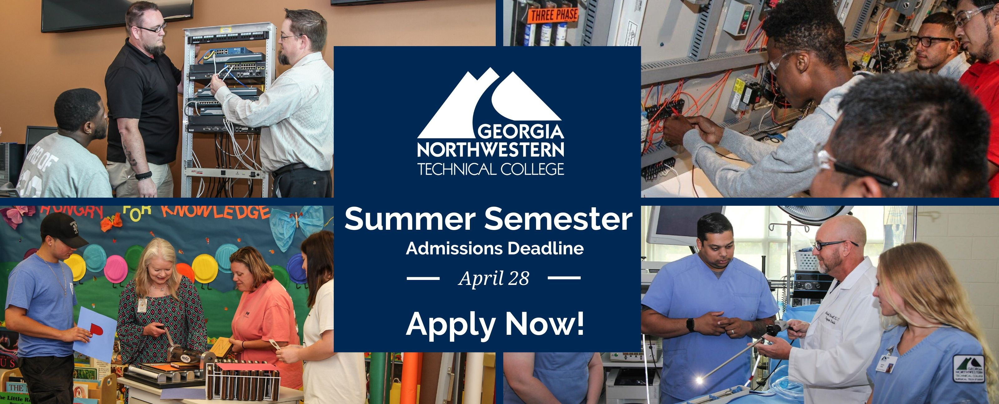 Apply Now! Summer Semester Admissions Deadline is April 28