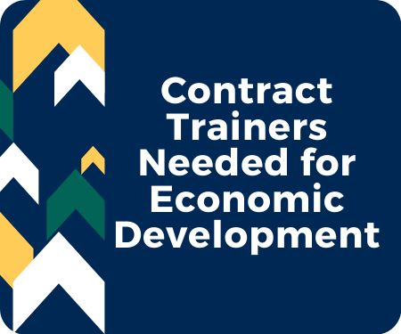 Interested in being a Contract Trainer for Economic Development