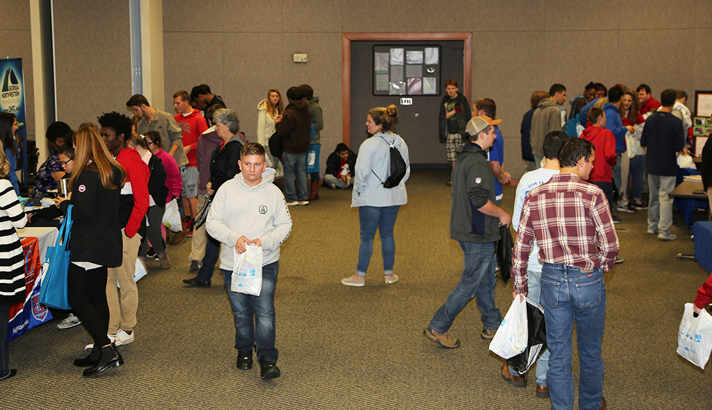 Hundreds of area high school students came to the Transition Fair on the Floyd County Campus in Rome.